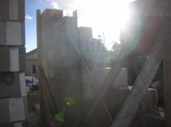 מעקה המדרגות למרפסת גג