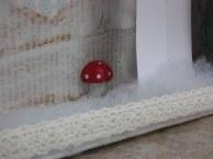 תקריב: פטריה בשלג