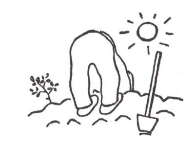 ציור של קארל צ'אפק מתוך שנת הגנן